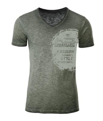 herren-shirt-olive-v-neck